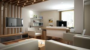 home office designs wooden. Home, Modern Home Office Design With Wall Mounted Tv Elegant Wooden Desk Floating Bookcase White Designs