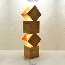 I Wood Design Danquen Handmade Wooden Design Floor Lamp