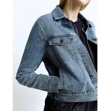 Ladies Spring Denim Jacket Ldj Pw3000375 Hemp Hoodlamb