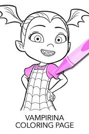Perfect Ideas Vampirina Coloring Pages And Wolfie Free Printable