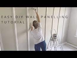 diy wall panelling tutorial