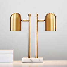 gold double dome table lamp