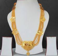 south indian jewelry ethnic gold plated necklace chain beautiful 22k light set