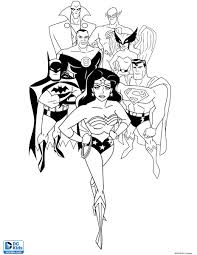 Small Picture JUSTICE LEAGUE COLORING SHEET