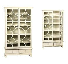 reclaimed wood bookcase with glass doors white cabinet