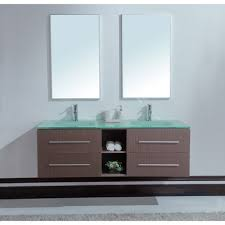 Bathroom Sinks And Cabinets Bathroom Modern Twin Bathroom Sinks With Wooden Cabinet