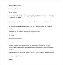 Thank You Letter To Customer Sample Business Thank You Letter 11 Free Sample Example Format