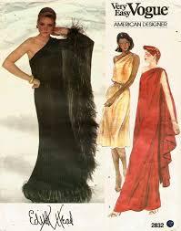 Designer Evening Gown Patterns Vintage Vogue 2832 Edith Head Designer Cocktail Or Evening