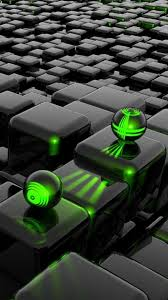 3d Cubes And 3d Green Laser Android ...