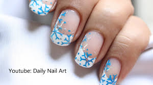 Easy Snow Nail Art - Snowflake Nails Winter Snow Nail design Let ...