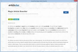 article rewriter software essay rewriting parapharser articlevisa product screenshot