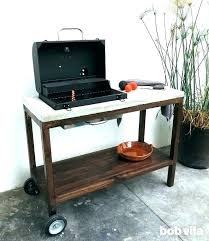 outdoor prep station cart kitchen how to build a grill outdoor prep station patio cedar wood grilling rolling