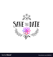 Save The Date Designs Badge As Part Of The Design Save The Date