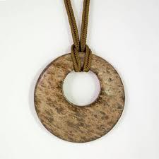 wooden disc pendant necklace pendant
