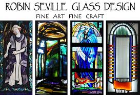 actively involved in the restoration and repair of religious stained glass in churches she employs time honoured skills and techniques