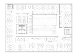 floor plan of the office. Architectural Drawing - Commercial Building, Open Office Scheme Floor Plan Of The G