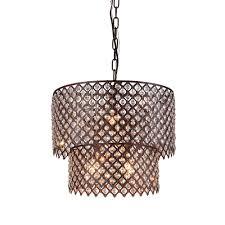 bernadette 8 light antique bronze indoor crystal chandelier with shade