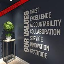 our values office wall art decor 3d pvc typography on business motivational wall art with office wall art corporate office supplies office decor
