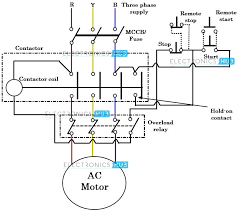 3 phase starter wiring diagram Contactor Coil Wiring Diagram direct online starter dol starter contactor coil wiring diagram goodman