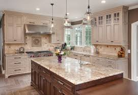 beige backsplash white cabinets. Off White Kitchen Cabinets Traditional With Beige Backsplash Bell Light For Pinterest