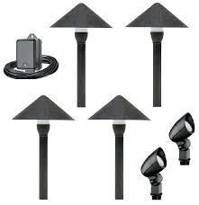 full image for landscape lighting copper malibu 20 piece low voltage outdoor kit led kits