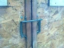 double barn door locking hardware pole old latch latches and sliding locks a