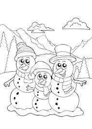Kleurplaat Winter Oa Sneeuw Schaatsen Wintersport Iglo