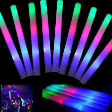 Details About 300pcs Light Led Foam Glow Stick Party Disco Atmosphere Flashing Light Stick