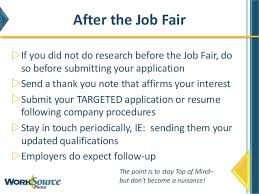 what to do at career fair how to work a job fair