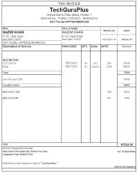 Tax Invoice Examples Template Tax Invoice Caseyroberts Co