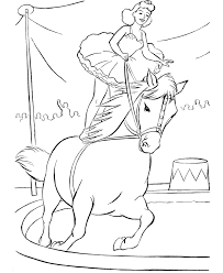 Circus Coloring Pages Girl On Horse Coloringstar