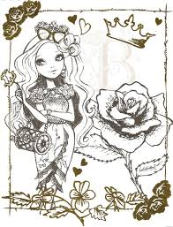 ever after high briar beauty colouring page