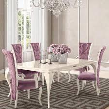 monaco high gloss fabric dining chair