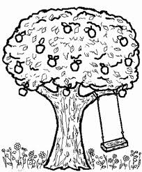 Small Picture Apple Tree and Swing Colouring Page Apple Tree and Swing
