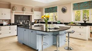 Blue Paint For Kitchen Modern White Kitchen Stools And Blue Wall Paint For Contemporary