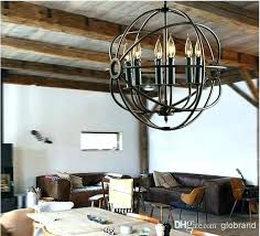 iron sphere chandelier rope orb chandelier iron orb chandelier lighting restoration hardware vintage pendant lamp iron orb chandelier rustic wrought iron