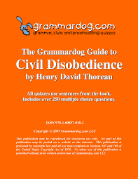 civil disobedience by henry david thoreau grammar style and civil disobedience by henry david thoreau 2
