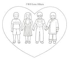 Small Picture Love One Another Coloring Pages Coloring Home