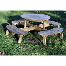 round wood picnic table vast tables wooden westwood 8 seater