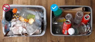 what is and is not accepted in your curbside recycling container
