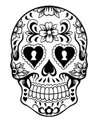 Printable Day Of The Dead Sugar Skull Coloring Page 4 Halloween