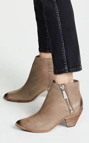 frye lila zip short booties grey leather ankle boots women fall winter