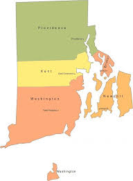rhode island state map