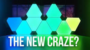 Gaming Led Wall Lights Nanoleaf Aurora Rgb Light Panels New Craze Youtube