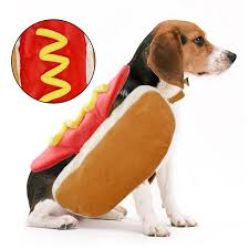 Us 2 48 21 Off Hot Dog Pets Puppy Halloween Costume Clothes Mustard Cat Clothes Outfit For Small Medium Dog Please See The Size Chart Product In
