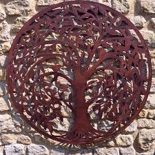 round rustic metal willow tree wall art the farthing rustic wall art on metal wall art trees willow with round rustic metal willow tree wall art the farthing rustic wall art