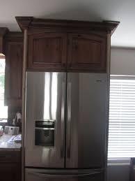 Kitchen Cabinets Moulding Save Fridge Cabinet Crown Molding On