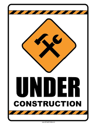 Printable Construction Signs Under Construction Sign Free Printable Allfreeprintable Com