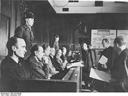 krupp trial  defendants at the krupp trial from left alfried krupp ewald loser eduard houdremont erich muller friedrich janssen karl pfirsisch and karl eberhardt