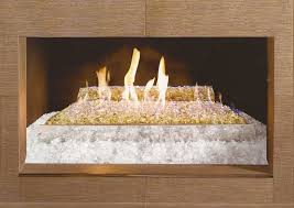 glass fireplace rocks